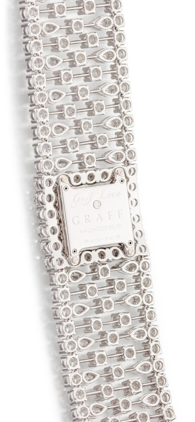 View 3. Thumbnail of Lot 1027. 'Graff Lace' Reference MA20WGDD, Limited Edition White Gold and Diamond-Set Wristwatch | 格拉夫| Graff Lace編號MA20WGDD,限量版白金鑲鑽石腕表,約2010年製.