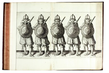 View 1. Thumbnail of Lot 218. Gheyn, Maniement d'Armes, 1608 [and] Breen, De Nassausche Wapen-Handlinge, 1618 .