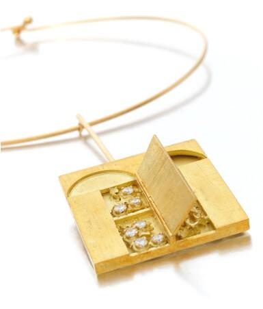 View 1. Thumbnail of Lot 124. Diamond necklace, Dimora (Collana con diamanti, Dimora).