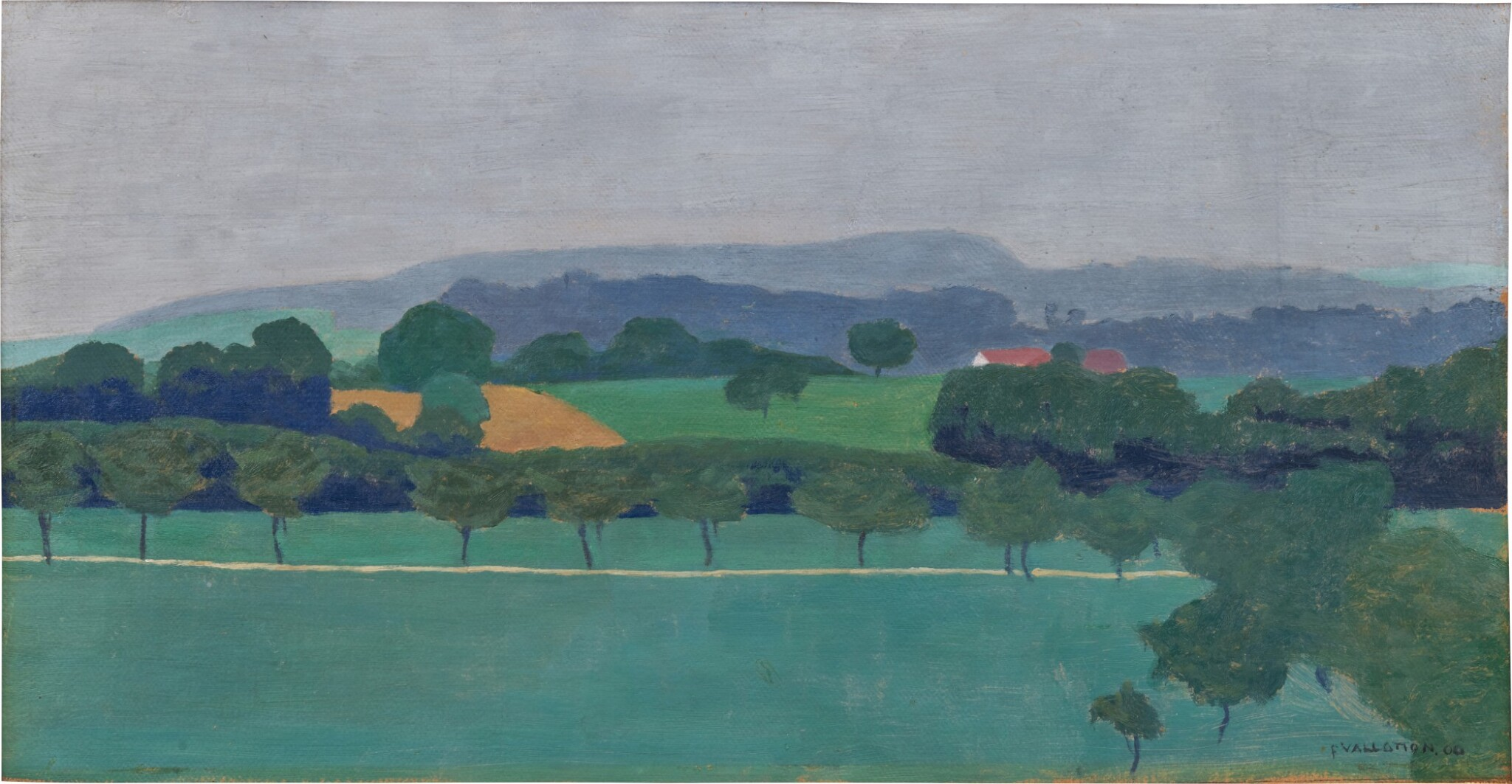 View full screen - View 1 of Lot 15. Paysage vaudois, Romanel, 1900.
