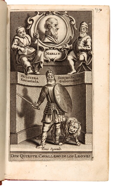 Cervantes, Don Quixote, Antwerp, 1697, 2 volumes