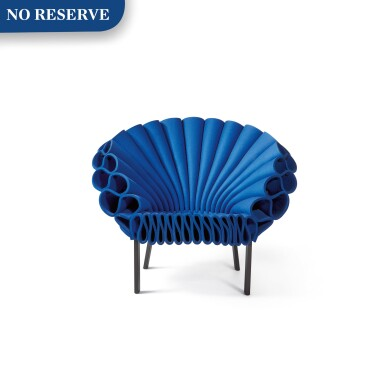 """View 1. Thumbnail of Lot 277. """"Peacock"""" Chair."""
