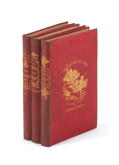 Dickens, Three Christmas Books, 1845-1846, presentation copies inscribed to J.P. Harley