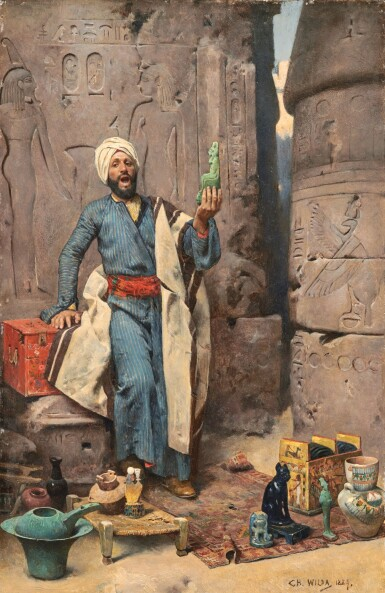 View 1 of Lot 4. CHARLES WILDA | THE EGYPTIAN ANTIQUES SELLER.