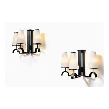 View 1. Thumbnail of Lot 96. Pair of Sconces.
