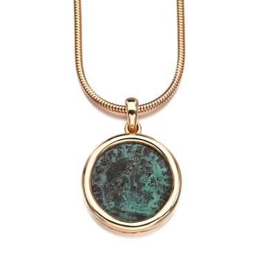 View 2. Thumbnail of Lot 27. Coin necklace, 'Monete'.