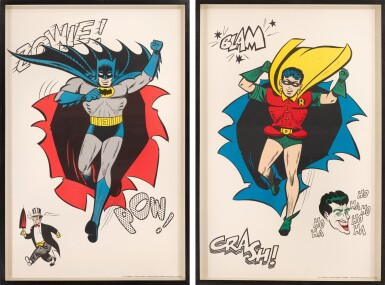 View 2. Thumbnail of Lot 118. BATMAN AND ROBIN (1966) TWO POSTERS, US.
