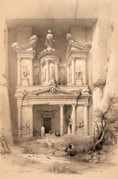 View 2. Thumbnail of Lot 132. David Roberts |The Holy Land, Syria, Idumea, Arabia, 1842-1849, 6 volumes.