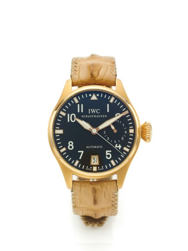 IWC | REF 5004 TOURNEAU BIG PILOT  A LIMITED EDITION PINK GOLD AUTOMATIC CENTER SECONDS WRISTWATCH WITH DATE AND SEVEN DAY POWER RESERVE INDICATION CIRCA 2008