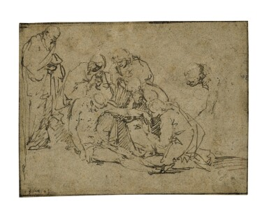 View 1. Thumbnail of Lot 220. The Lamentation of Christ.