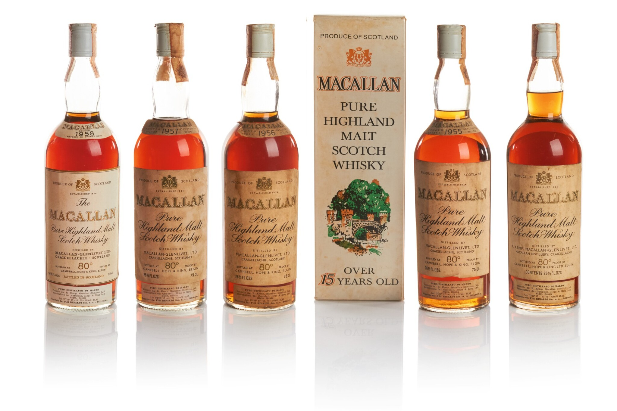 View full screen - View 1 of Lot 31. THE MACALLAN 18 YEAR OLD 46.0 ABV 1954  .