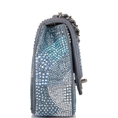 View 3. Thumbnail of Lot 31. Chanel Multicolor Strass Flap Bag of Swarovski Crystals and Grey Leather with Silver Tone Hardware.
