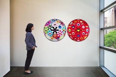 View 5. Thumbnail of Lot 16. TAKASHI MURAKAMI   RED FLOWER BALL (3-D); AND FLOWER BALL BLOOD (3-D) .