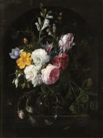 NICOLAES VAN VERENDAEL  | STILL LIFES WITH FLOWERS IN A CRYSTAL VASE