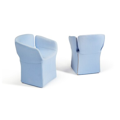 """View 3. Thumbnail of Lot 289. Pair of """"Bloomy"""" Armchairs."""