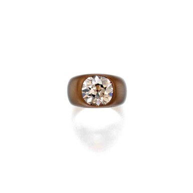 View 1. Thumbnail of Lot 217. Bronze and Colored Diamond Ring.
