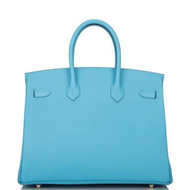 View 4. Thumbnail of Lot 15. Hermès Bleu du Nord Birkin 35cm of Epsom Leather with Gold Hardware.