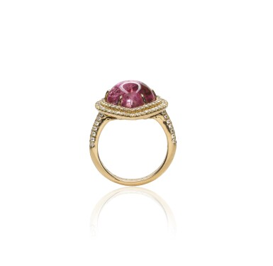 View 2. Thumbnail of Lot 17. Pink tourmaline and diamond ring, Michele della Valle.