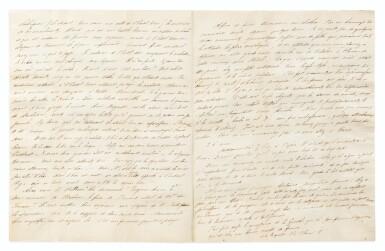 """View 1. Thumbnail of Lot 145. Lettre autographe, à Stendhal. Paris 25-28 mai [1832]. 3 p.1/2. Mérimée lui décrit ses soirées """"spermatiques""""."""
