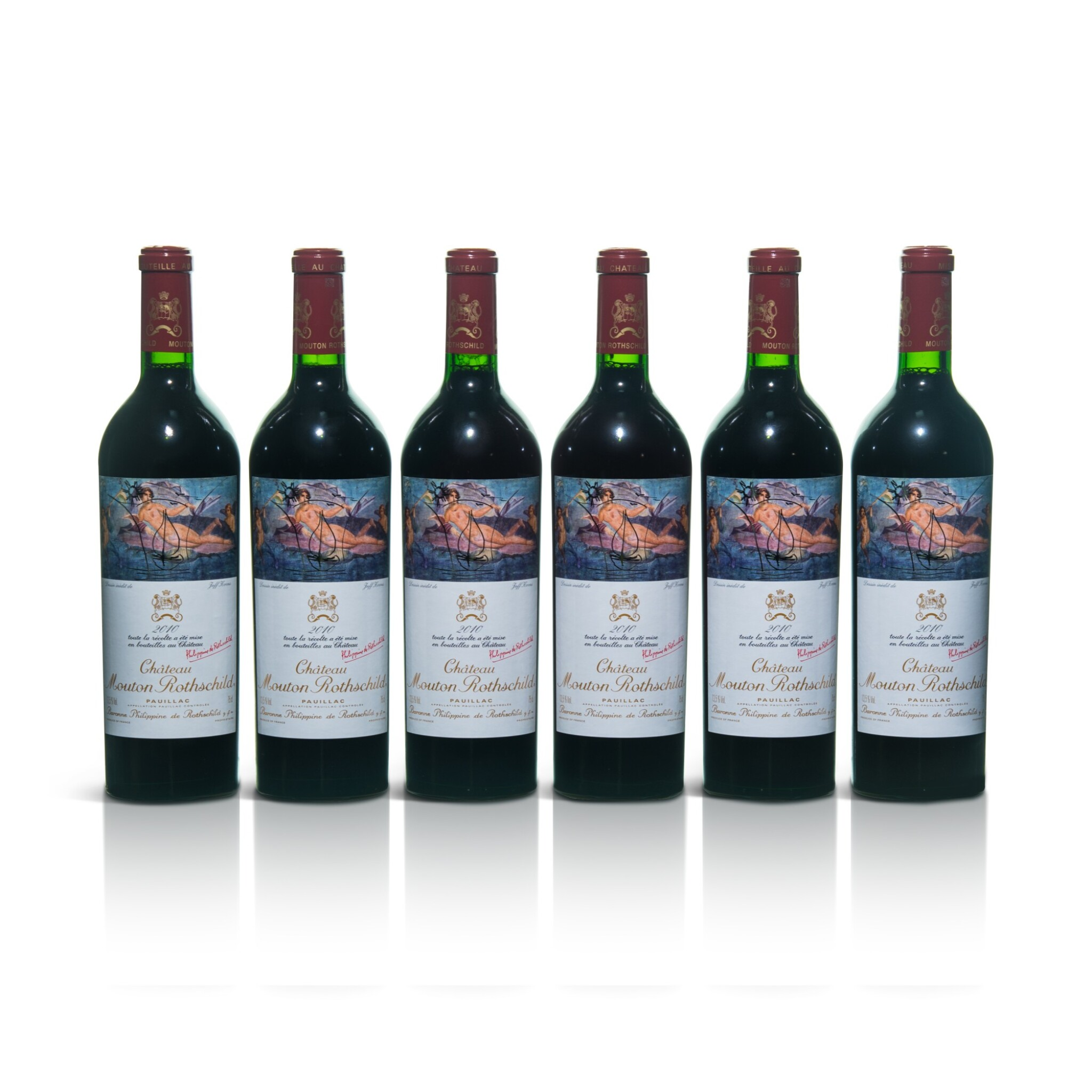 View full screen - View 1 of Lot 55. Château Mouton Rothschild 2010  (6 BT).