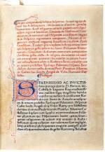Rodericus Zamorensis, Compendiosa historia hispanica, [Rome, 1470], modern calf