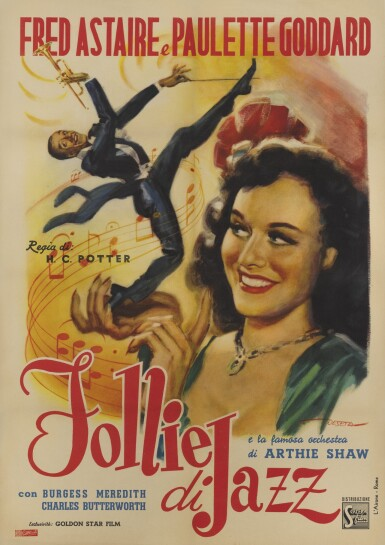 SECOND CHORUS/FOLLIE DI JAZZ (1940) POSTER, ITALIAN