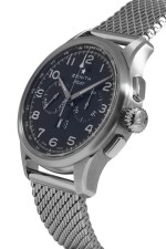 ZENITH | PILOT, REF 03.2410.4010 STAINLESS STEEL CHRONOGRAPH WRISTWATCH WITH DATE AND BRACELET CIRCA 2012