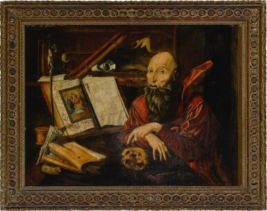 View 3. Thumbnail of Lot 4. Saint Jerome in his study.