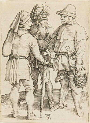 ALBRECHT DÜRER | THE TURKISH FAMILY; THREE PEASANTS IN CONVERSATION; AND THE BAGPIPER (B. 85, 86, 91; M., HOLL. 80, 87, 90)