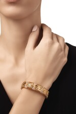 GOLD AND DIAMOND 'PARENTESI' BRACELET, BULGARI