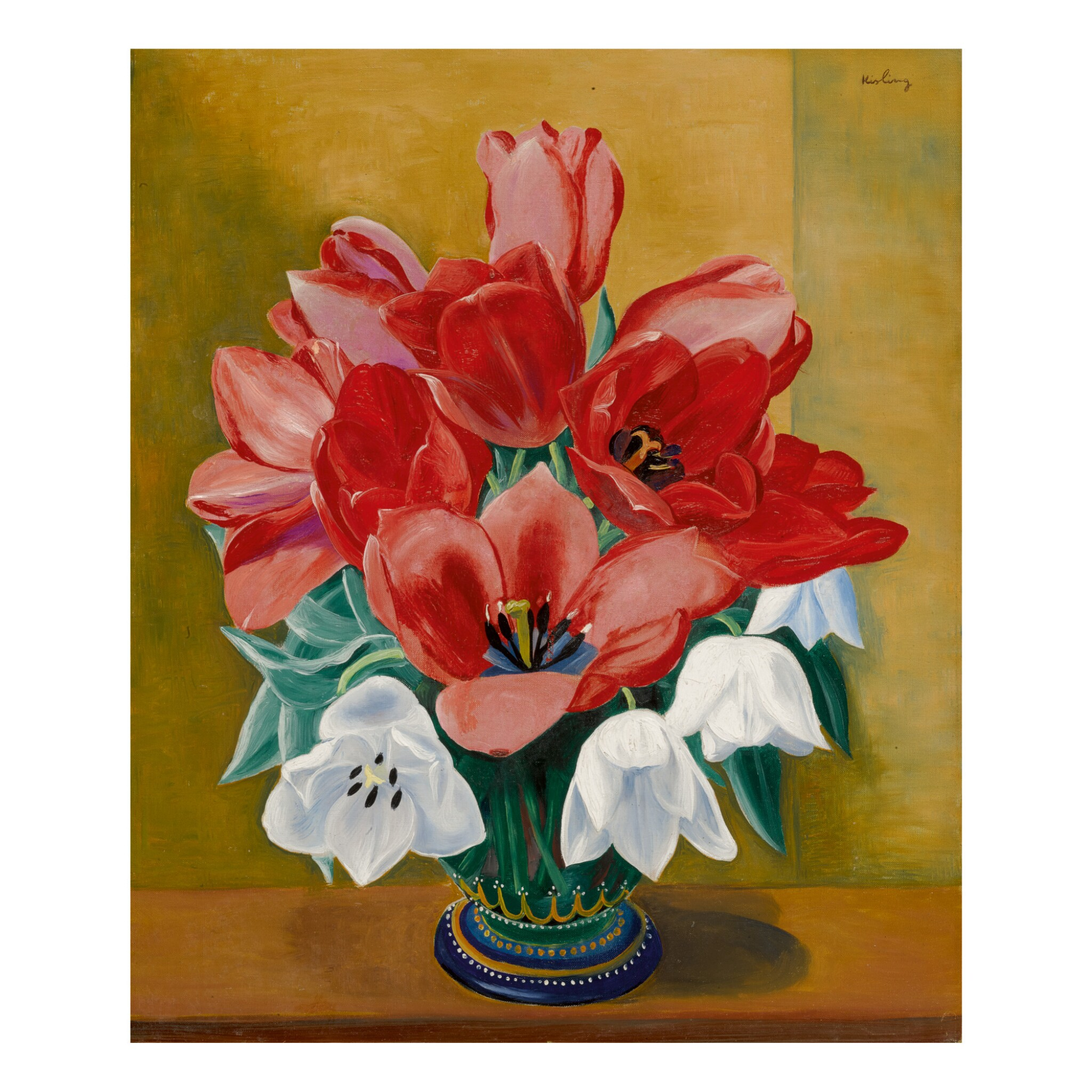 View full screen - View 1 of Lot 21. MOÏSE KISLING | VASE OF TULIPS.