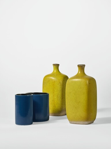 View 2. Thumbnail of Lot 217. GEORGES JOUVE | PAIR OF VASES.