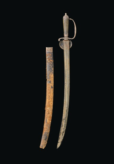 The Galfridus Walpole and Maurice Suckling silver-hilted hanger believed to be that carried by Captain (later Admiral Lord) Horatio Nelson, by Nixon, Strand, London silver hallmarks for 1752