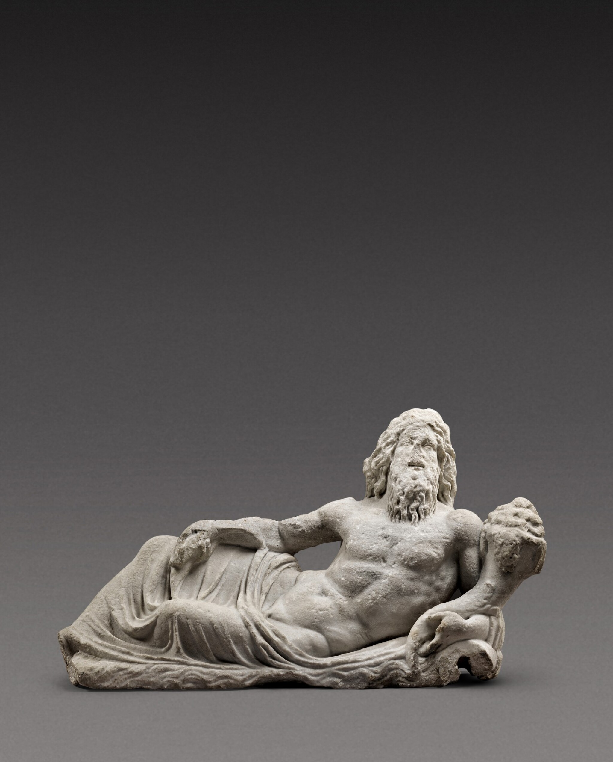 View full screen - View 1 of Lot 68. A Roman Marble Fountain Figure of a River God, circa 2nd Century A.D..