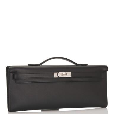 Hermès Black Kelly Cut Clutch of Swift Leather with Palladium Hardware