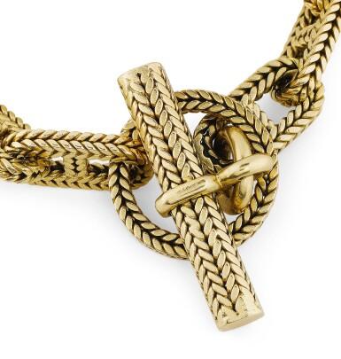 "View 3. Thumbnail of Lot 120. Bracelet or, ""Chaîne d'ancre"" | Gold bracelet, 'Chaîne d'ancre'."