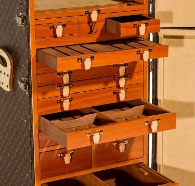 View 7. Thumbnail of Lot 63. Brown Classic Monogram Canvas Cigar Humidor Trunk Brass Hardware, Circa 1990s.