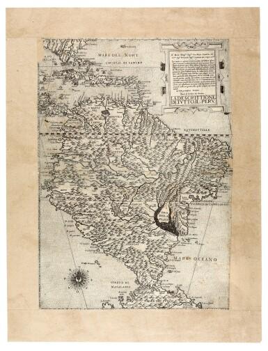 View 2. Thumbnail of Lot 253. Forlani. La descrittione di tutto il Peru. [Venice, c.1562].