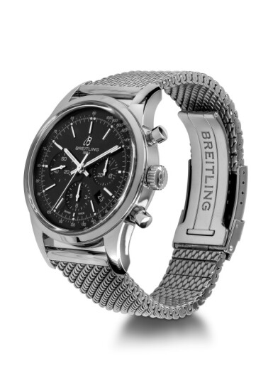 BREITLING   TRANSOCEAN, REF AB0152 STAINLESS STEEL CHRONOGRAPH WRISTWATCH WITH DATE CIRCA 2012