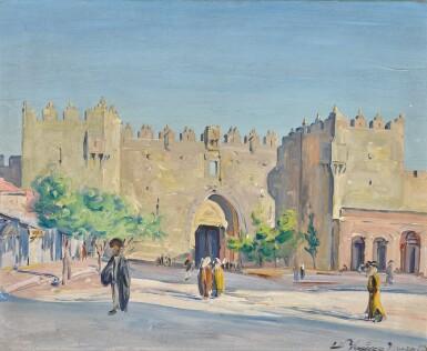 View 1. Thumbnail of Lot 3. LUDWIG BLUM | The Damascus Gate, Jerusalem .