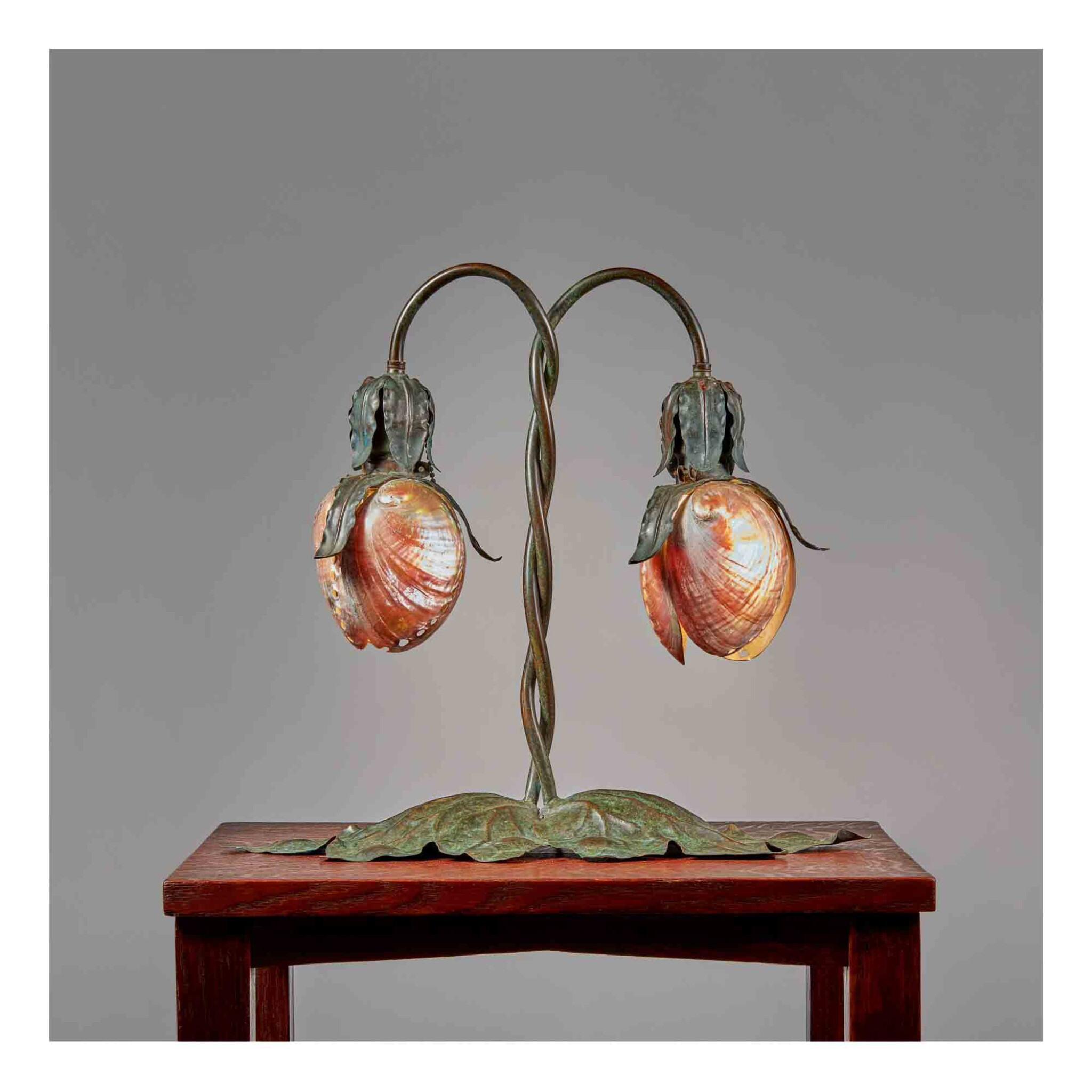 View 1 of Lot 330. Two-light Table Lamp.