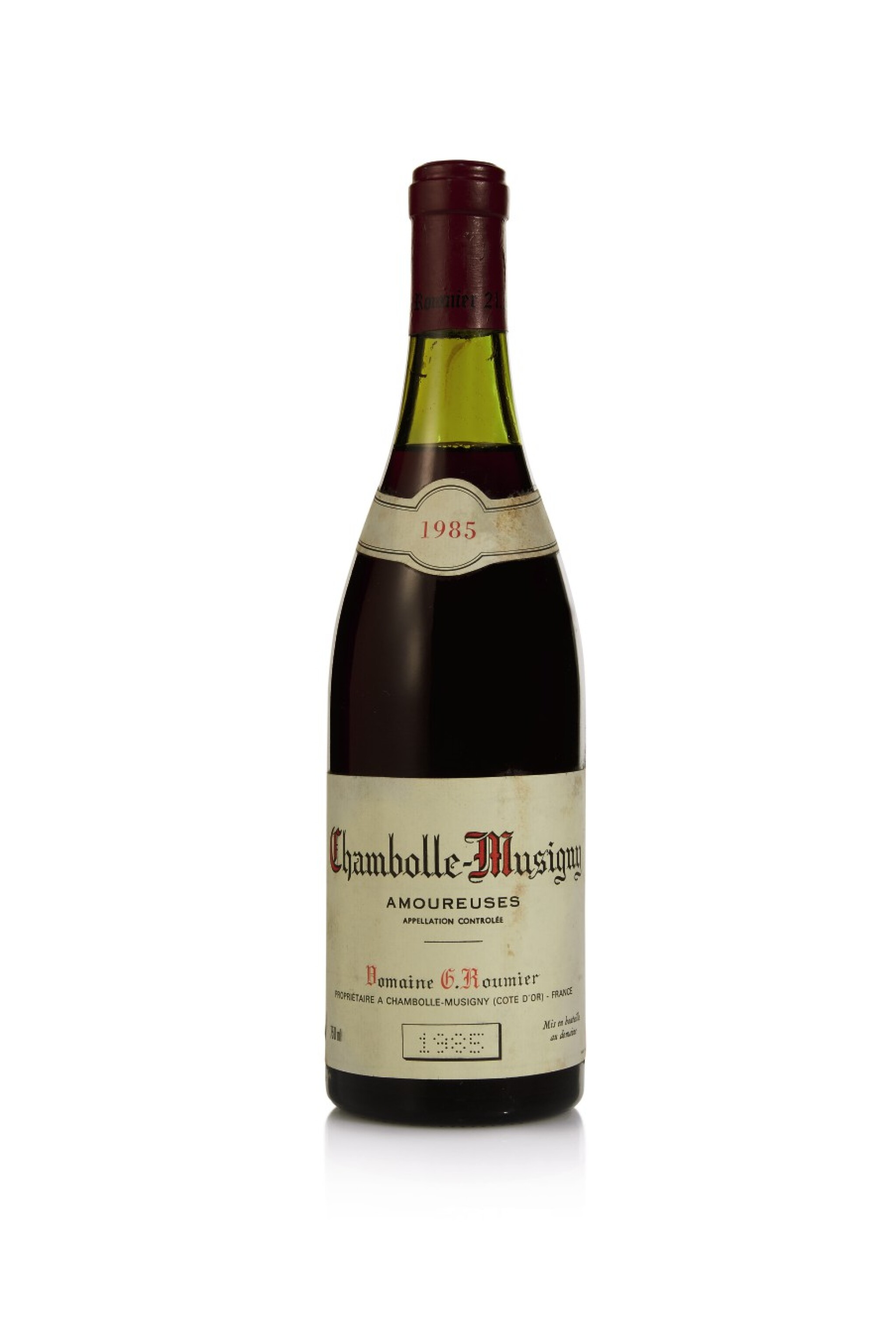 View full screen - View 1 of Lot 46. Chambolle Musigny, Les Amoureuses 1985 Domaine Georges Roumier (1 BT).