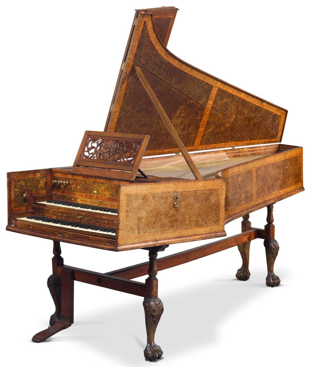 A TWO-MANUAL HARPSICHORD BY JACOB KIRKMAN, LONDON, 1766