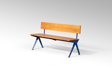 View 2. Thumbnail of Lot 31. Marcoule bench, designed in 1955.