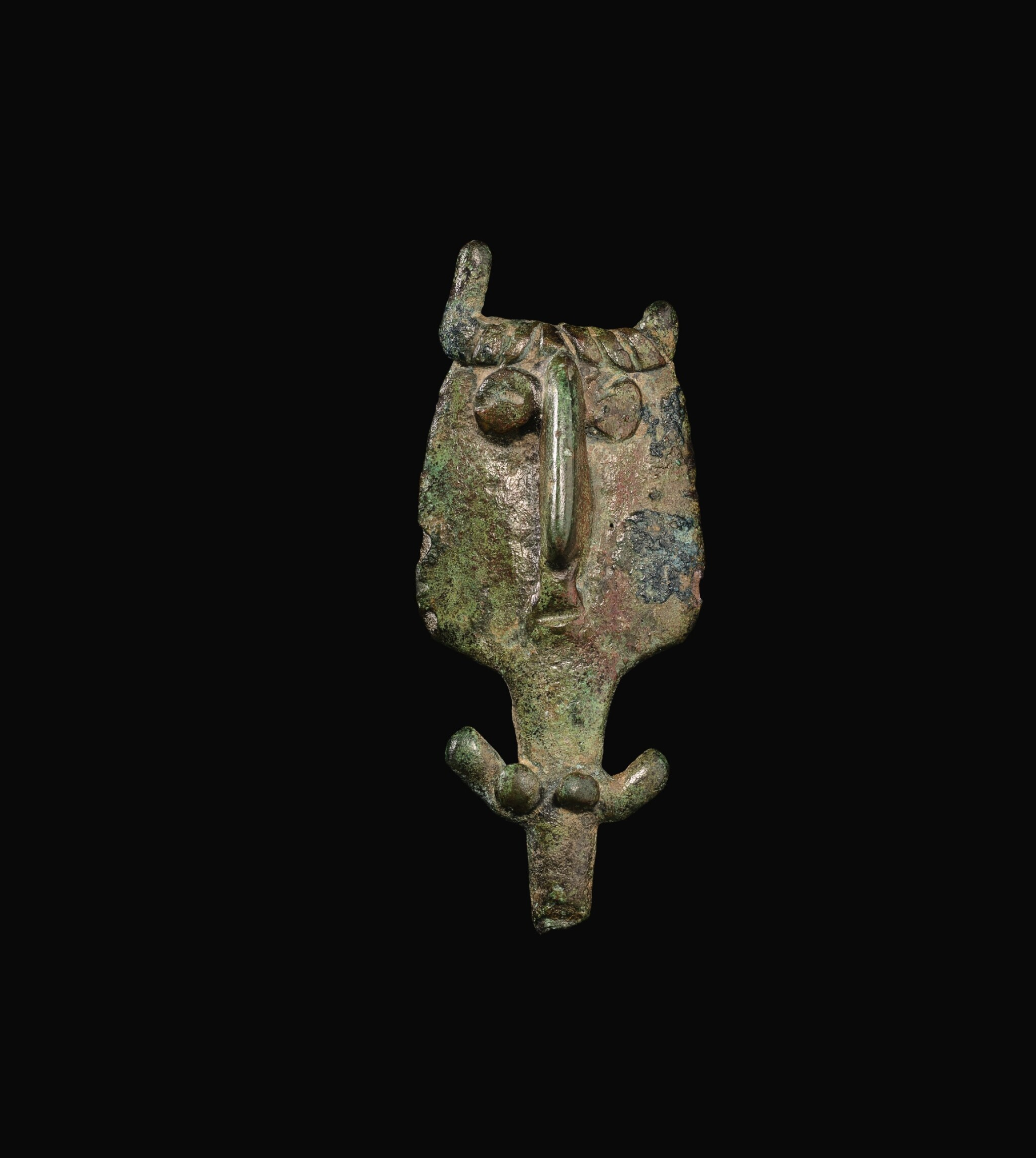 View full screen - View 1 of Lot 4. A PIRAVEND BRONZE FIGURE OF A WOMAN, CIRCA EARLY 1ST MILLENNIUM B.C..