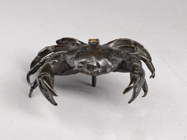 View 4. Thumbnail of Lot 33. NORTHERN ITALIAN, IN RENAISSANCE STYLE | INKWELL IN THE FORM OF A CRAB.
