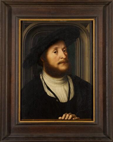 View 2. Thumbnail of Lot 110. FOLLOWER OF JAN GOSSAERT | Portrait of a gentleman.