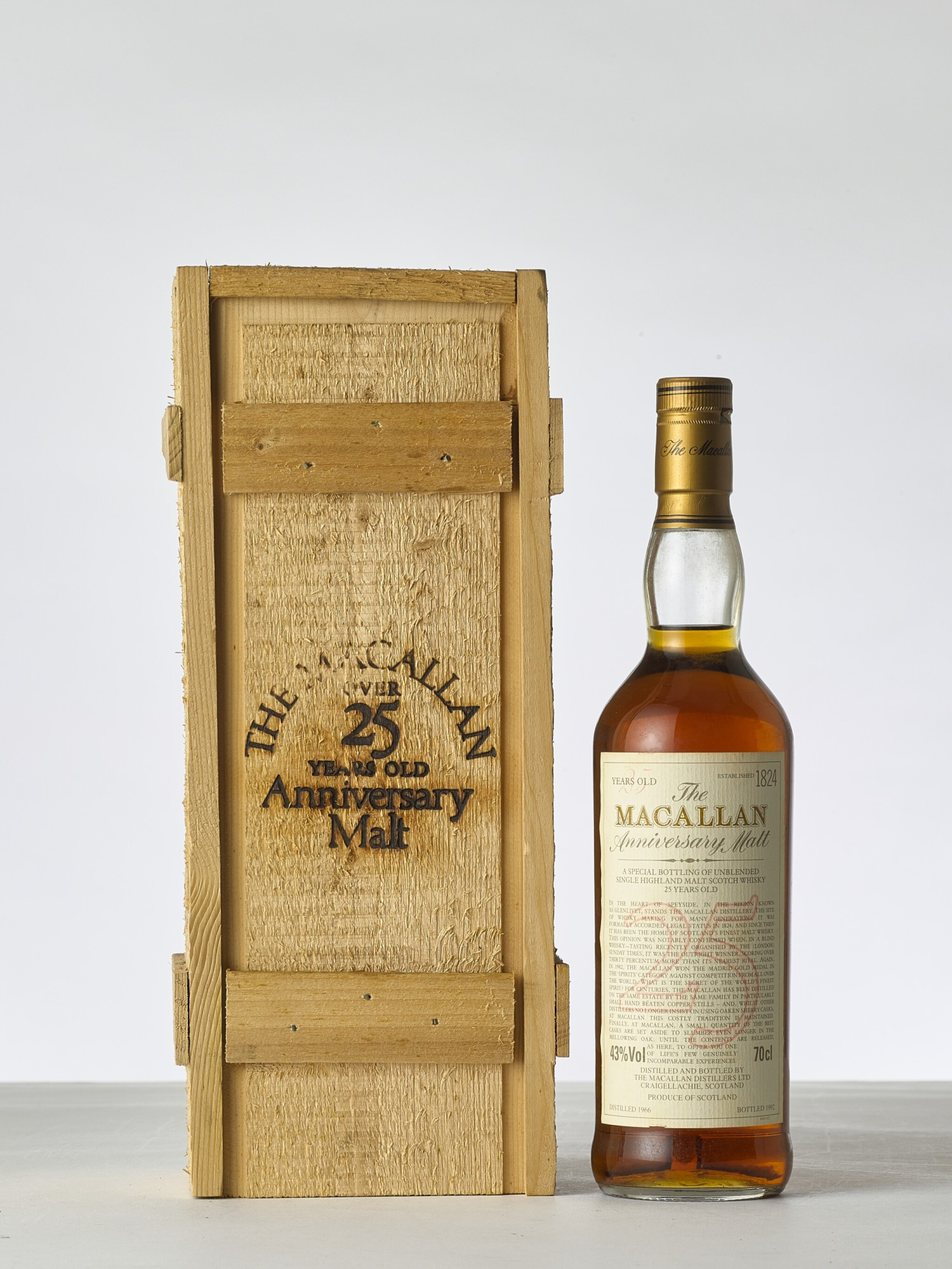 View 1 of Lot 2010. The Macallan 25 Year Old Anniversary Malt 43.0 abv 1966 (1 BT70).