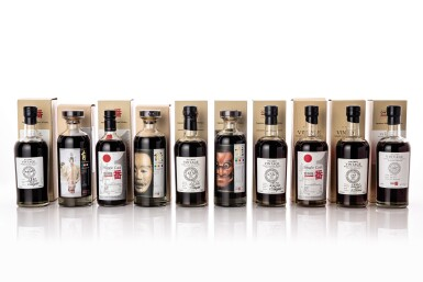 View 1. Thumbnail of Lot 5554. 輕井澤The Malt Maniacs Awards金獎得主系列(十瓶) Karuizawa MMA Gold Winners 10 Bottle Set NV (10 BT70).