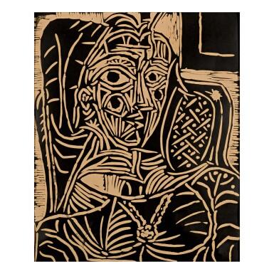View 1. Thumbnail of Lot 48. PABLO PICASSO | PORTRAIT DE JACQUELINE AU FAUTEUIL (BA. 1054).